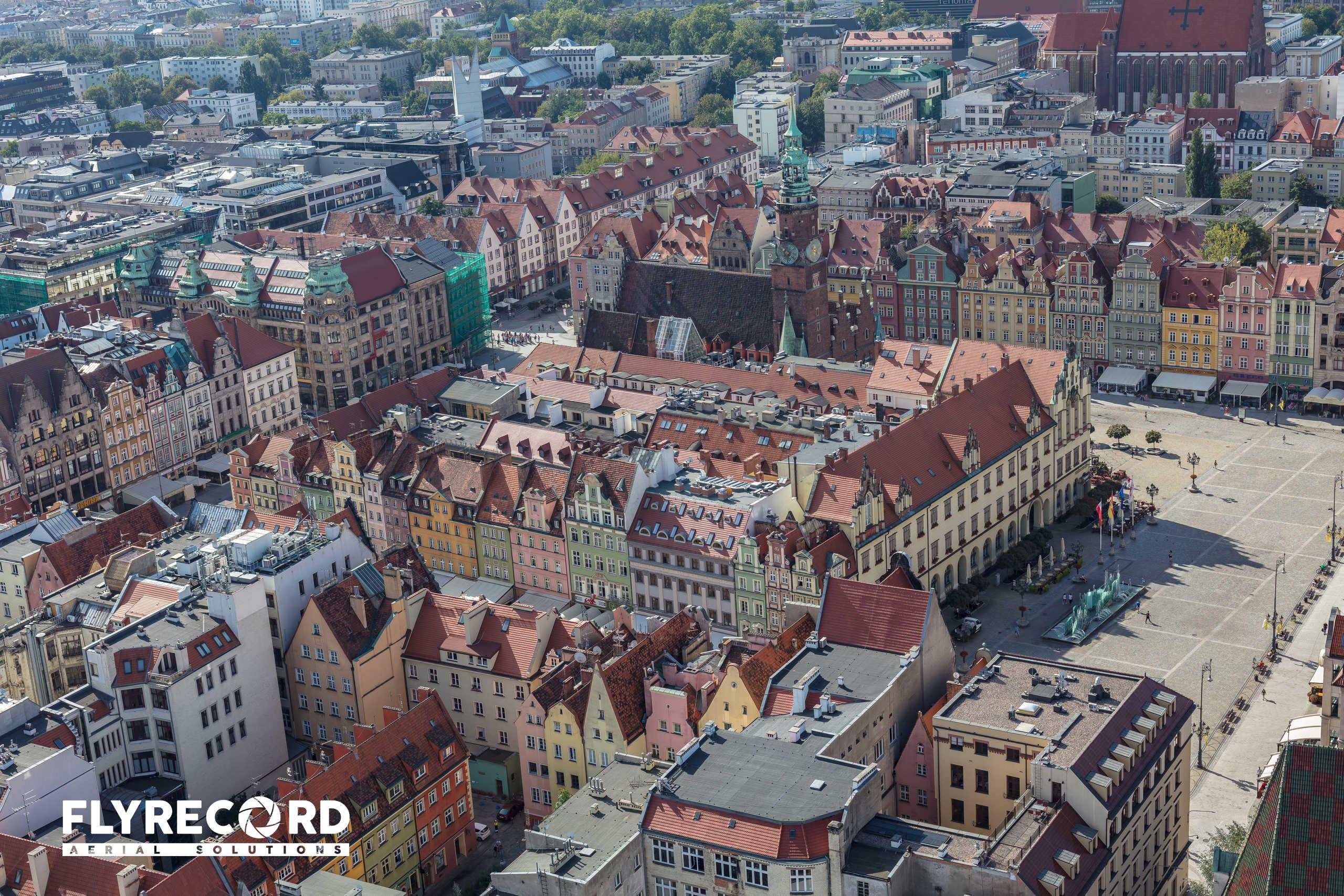 Rynek Wrocławski z drona