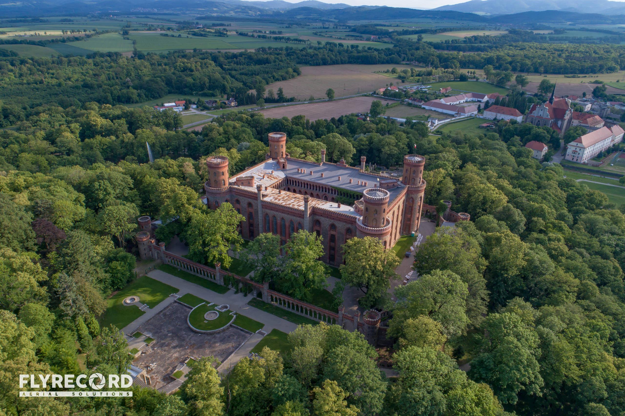 Pałac Marianny Orańskiej z drona