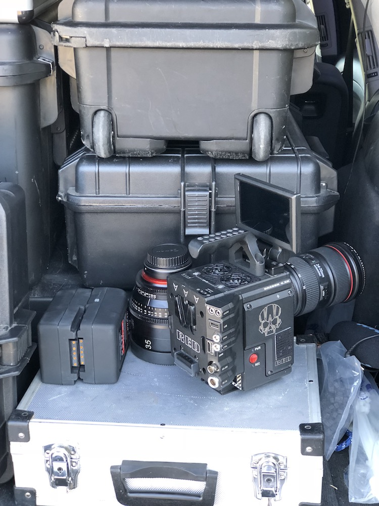 filmowanie dronem red kamera